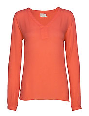 Amber L/S Blouse- MIN 2 - LIVING CORAL