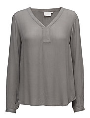 Amber L/S Blouse- MIN 2 - SMOKED PEARL