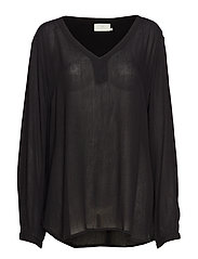 Amber LS Blouse - BLACK DEEP