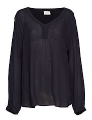 Amber LS Blouse - MIDNIGHT MARINE