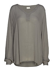 Amber LS Blouse - SMOKED PEARL
