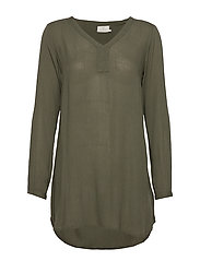 Amber V-Neck Tunic - GRAPE LEAF