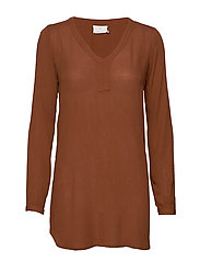 Amber V-Neck Tunic - TORTOISE SHELL