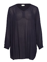 Amber V-Neck Tunic - MIDNIGHT MARINE