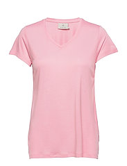 Anna V-Neck T-Shirt - CANDY PINK