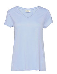 Anna V-Neck T-Shirt - CHAMBRAY BLUE