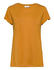 Anna V-Neck T-Shirt - INCA GOLD
