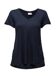 Anna V-Neck T-Shirt - MIDNIGHT MARINE