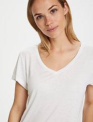 Kaffe - Anna V-Neck T-Shirt - t-shirts - optical white - 0