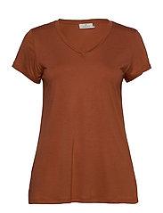 Anna V-Neck T-Shirt - SIERRA