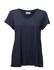 Anna V-Neck T-Shirt MIN 20 pcs. - VINTAGE BLUE