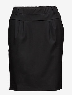 Jillian Skirt - midi-röcke - black deep