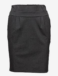 Jillian Skirt - midinederdele - dark grey melange
