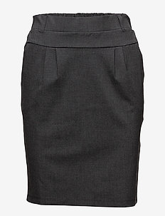 Jillian Skirt - midinederdele - dark grey melange