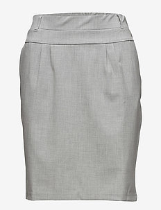Jillian Skirt - midinederdele - light grey melange