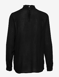 Trine Blouse- MIN 2 - long sleeved blouses - black deep