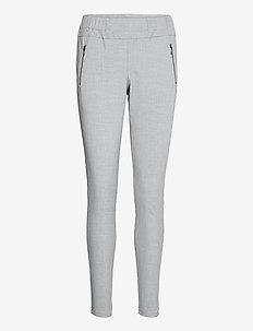 Jillian Vilja pants - raka byxor - light grey melange
