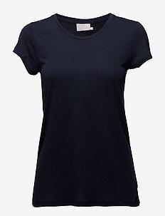 Anna O-Neck T-Shirt - MIDNIGHT MARINE