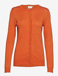 Astrid O-Cardigan - koftor - burnt orange