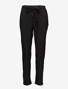 Jillian Belt Pants - casual byxor - black deep