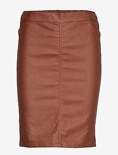 Ada coated skirt - CHERRY MAHOGANY