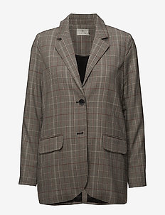 Bess Checked Blazer - suits & co-ords - black deep