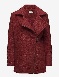 Lulu boucle coat- MIN 4 PCS - wool jackets - sun-dried tomato