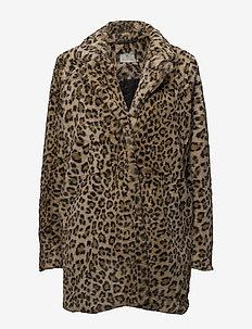 Mira Jacket- MIN 4 pcs - sztuczne futro - leo brown