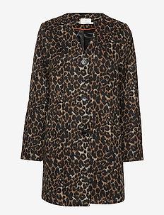 Lesley Leo Coat - wool coats - black deep