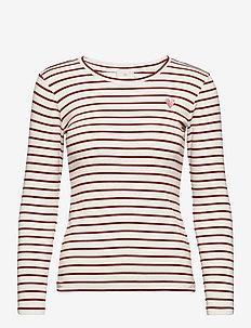 Liddy T-Shirt- MIN 16 pcs. - tops met lange mouwen - chalk/50292 ginger bread