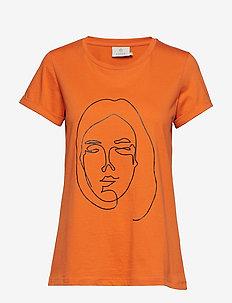 KAfie T-Shirt - BURNT ORANGE