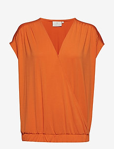 KAmolly Blouse - sleeveless tops - burnt orange