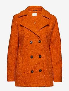 KAbella Boucle Coat Min 4 pcs - wool jackets - burnt orange