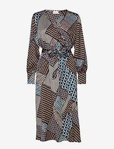 KAselina Midi Dress - BLACK DEEP