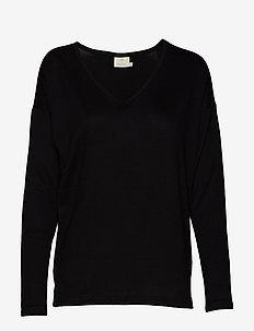 KAsiane V Neck Pullover - BLACK DEEP
