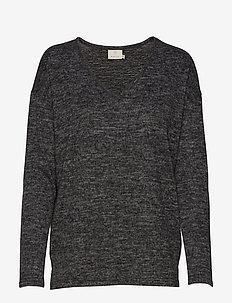 KAsiane V Neck Pullover - trøjer - dark grey melange