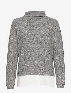KAbelina Highneck Pullover Min 8 pc - rullekraver - grey melange / 50003