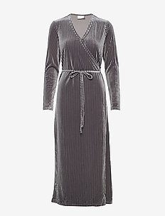 KAviola Wrap Dress - SILVER GREY
