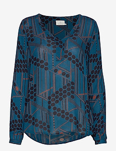 KAmaria Amber Blouse - MOROCCAN BLUE