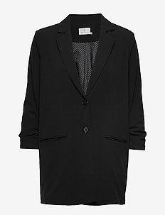 KAeda 3/4 sleeve Blazer - BLACK DEEP