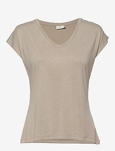 KAlise SS T-shirt - COBBLESTONE