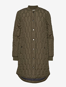 KAshally Quilted Coat - quiltede jakker - grape leaf