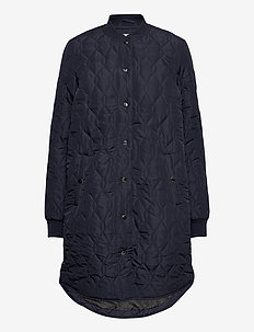 KAshally Quilted Coat - quiltede jakker - midnight marine