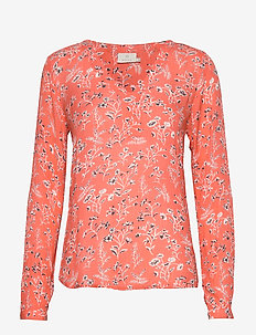 KAshirley Amber Blouse - LIVING CORAL