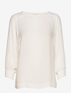 KAsolana 3/4 bat sleeve Blouse - CHALK