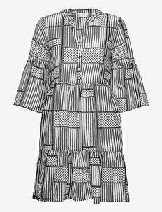 KAparris Dress 3/4 SL - BLACK DEEP