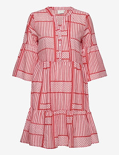 KAparris Dress 3/4 SL - HIGH RISK RED