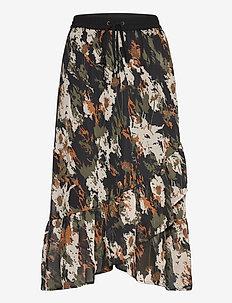 KAdane Skirt - midi skirts - grape leaf -flower camouflage