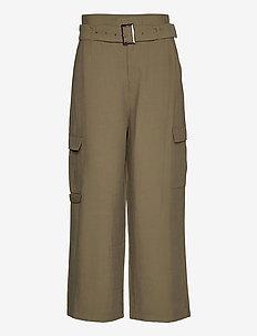 KAmargot Cropped Pants - bukser med brede ben - grape leaf