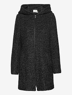 KAdako Coat - uldfrakker - dark grey melange